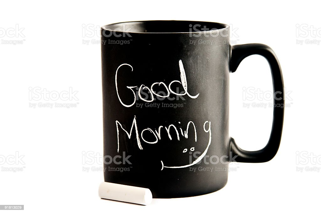 Good morning  cup stock photo