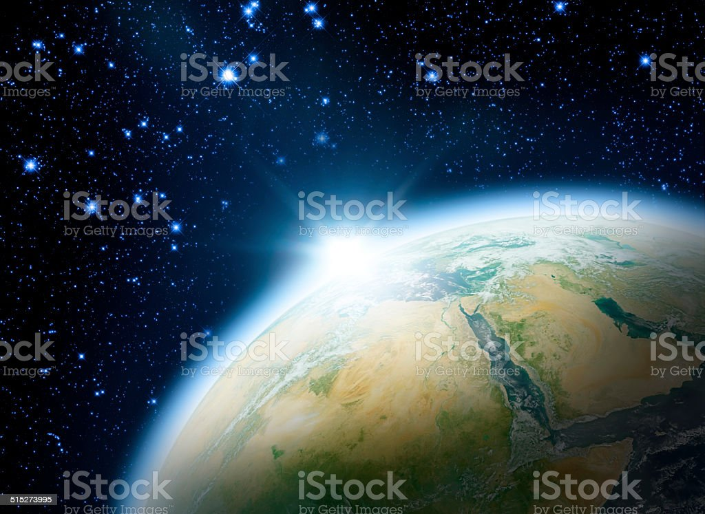 Good Morning Earth! stock photo