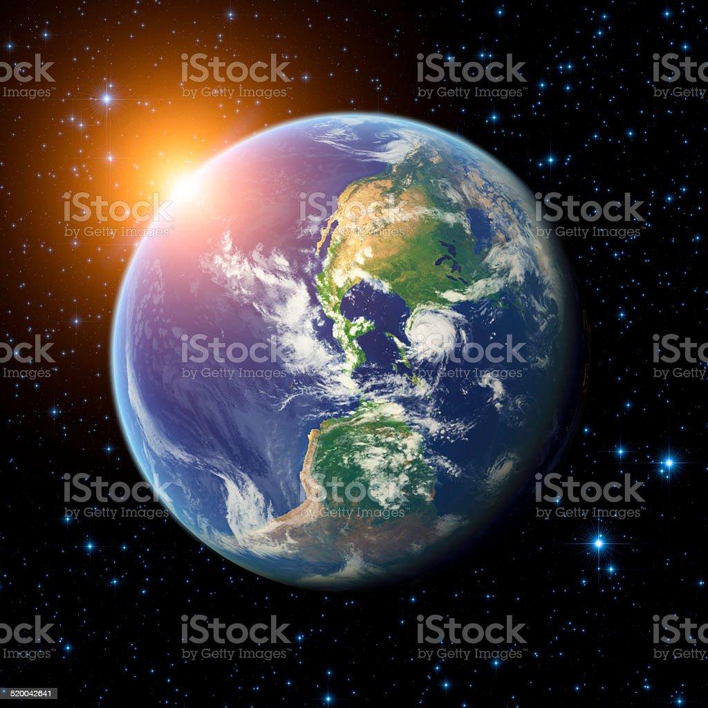 Good Morning Earth! stock photo
