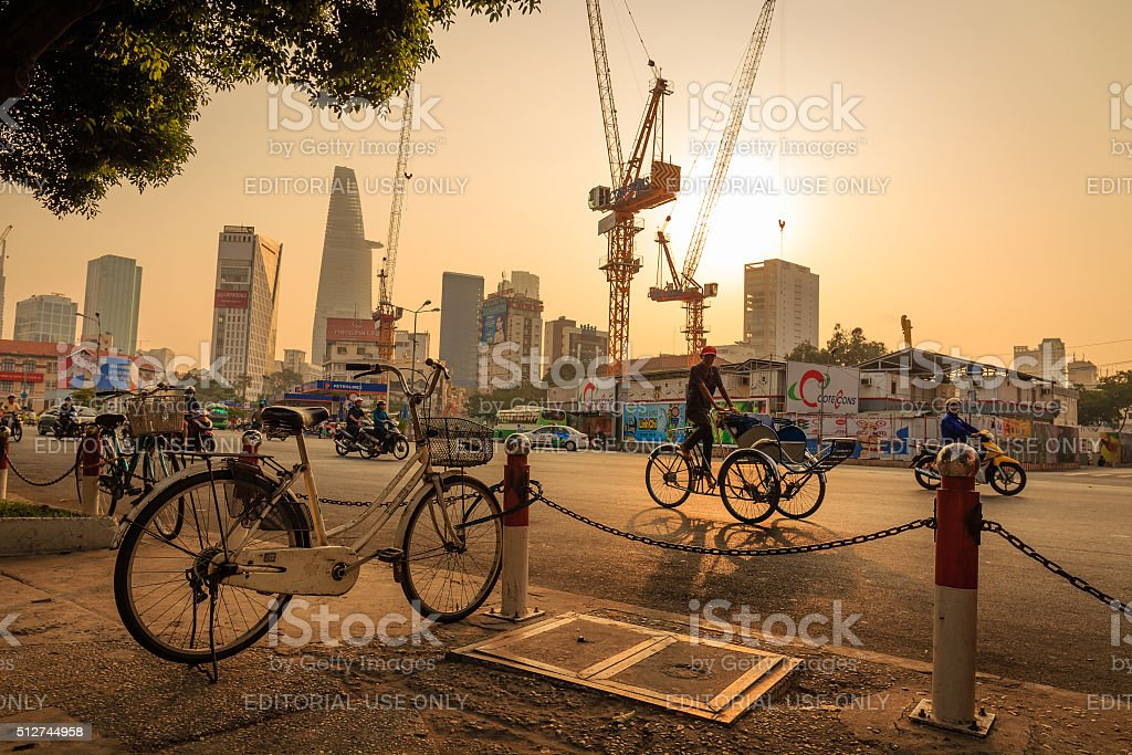 Good Morning Ho Chi Minh City stock photo