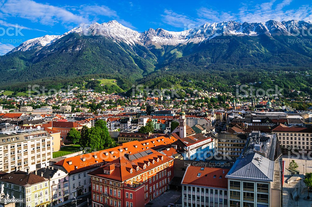 Good Morning Innsbruch stock photo