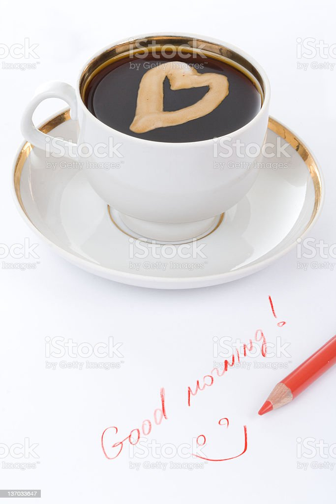 Good morning's cup of coffee royalty-free stock photo