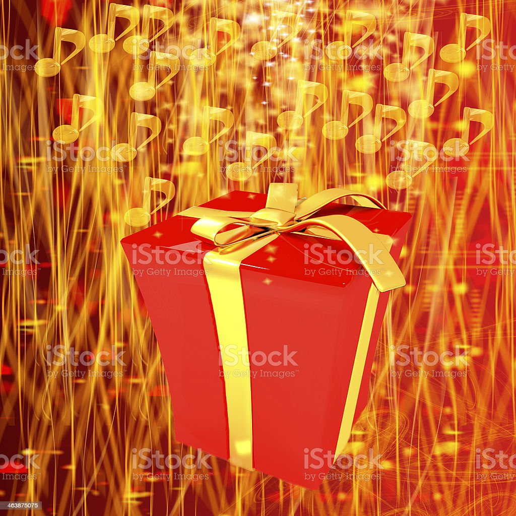 Good music is the best gift stock photo
