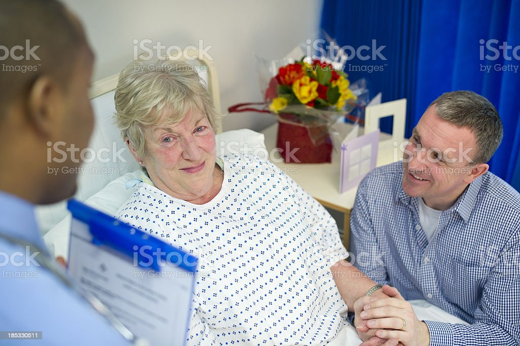 good news from the doc stock photo