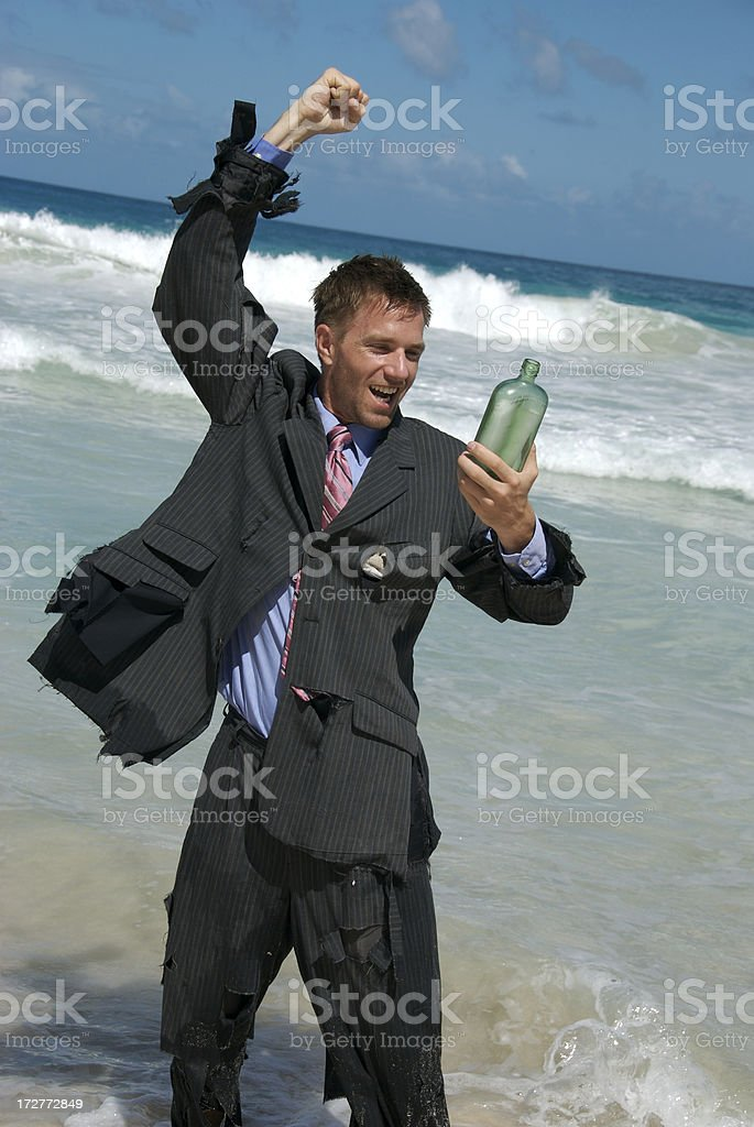 Good News in a Bottle stock photo