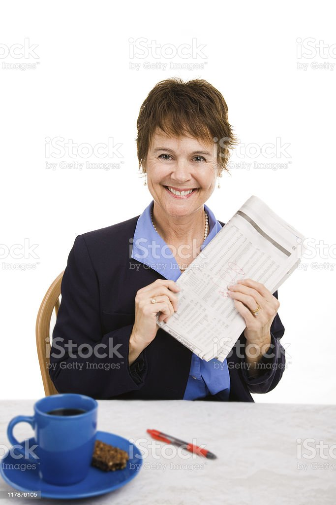 Good News in Newspaper royalty-free stock photo