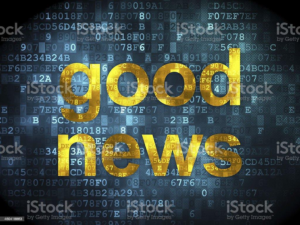 Good News on digital background royalty-free stock photo