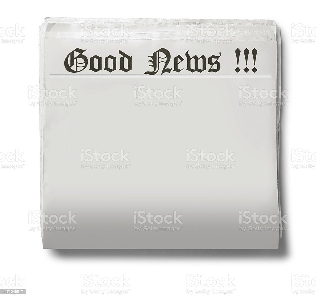 Good News royalty-free stock photo