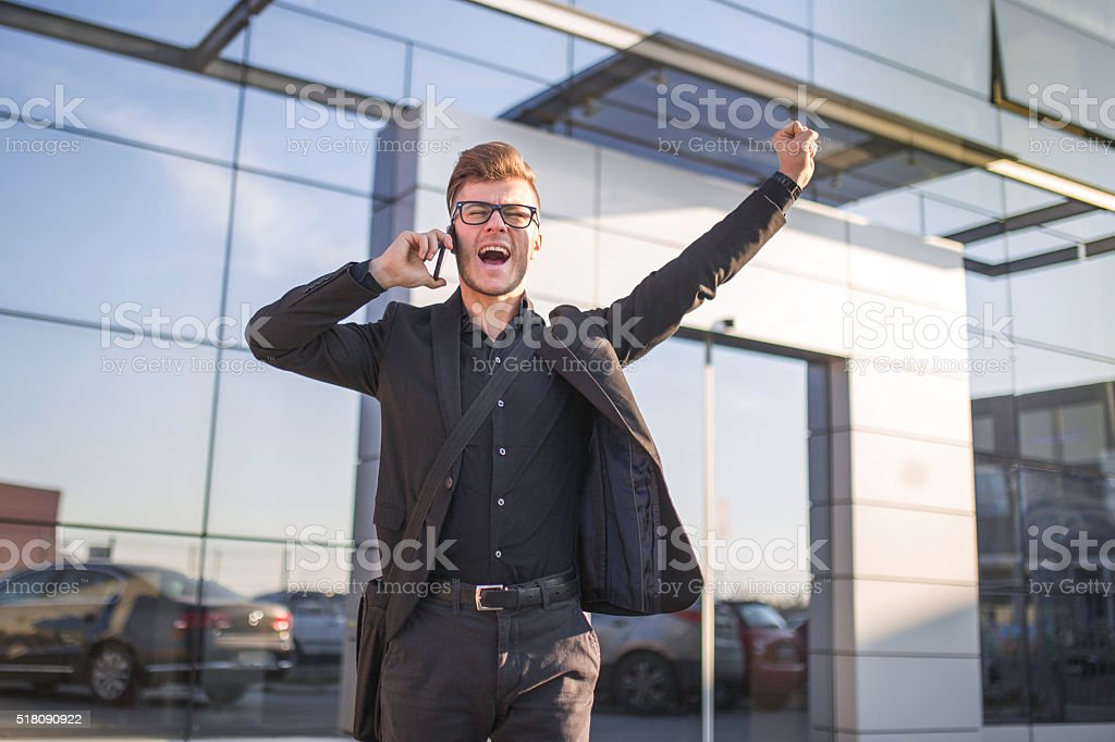 Good news. stock photo