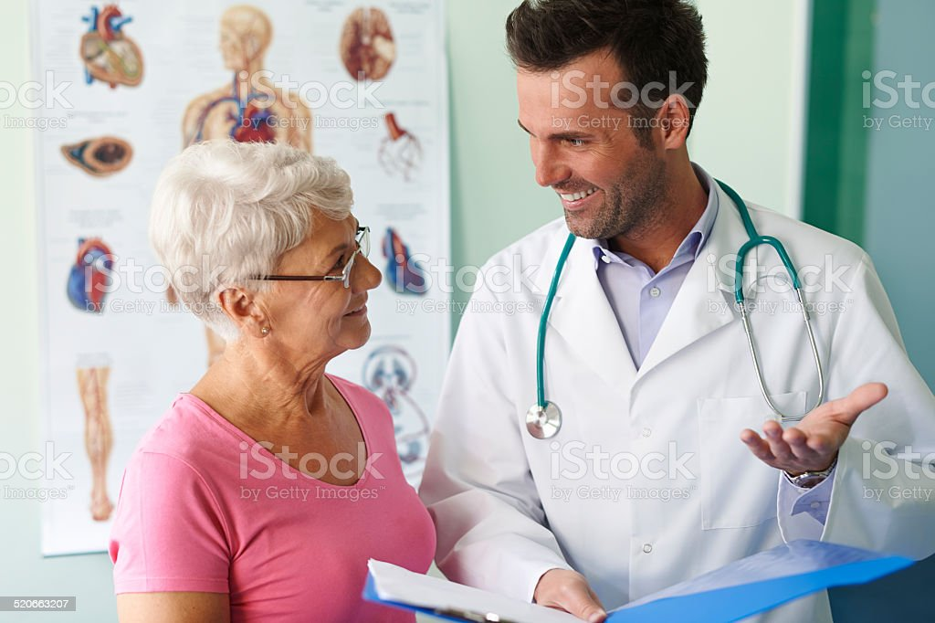 Good news, test results are fine stock photo