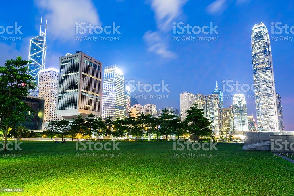 Good Night Hong Kong stock photo