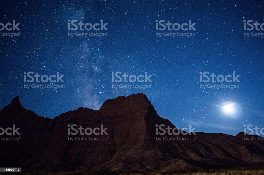 Good Night in Badlands stock photo