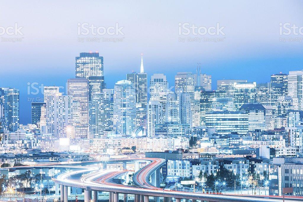 Good Night San Francisco royalty-free stock photo