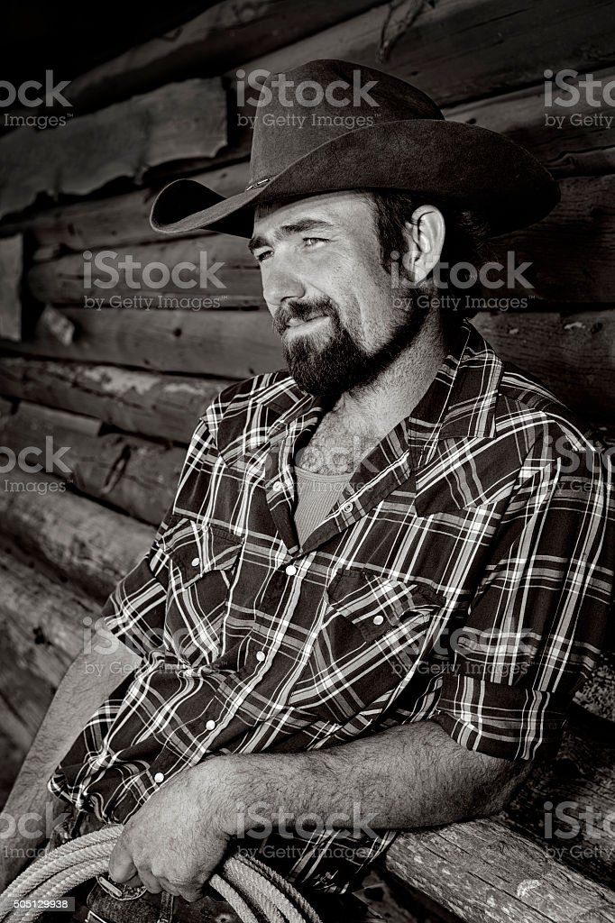 Good Ole Montana Cowboy stock photo