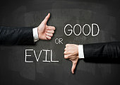 Good or Evil / Blackboard concept (Click for more)