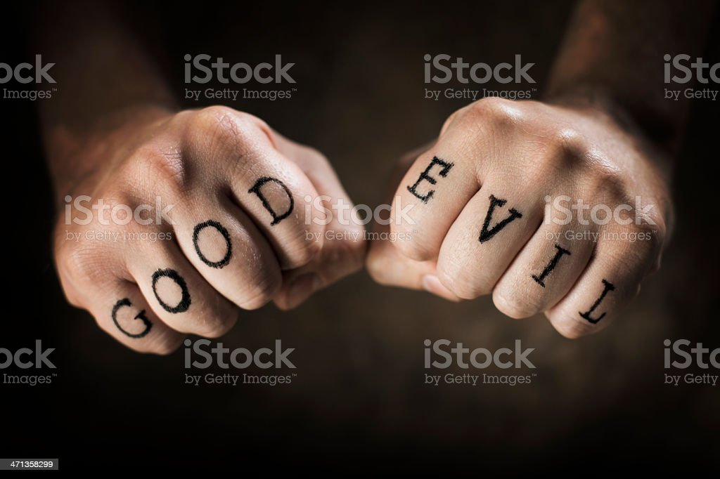 Good or Evil stock photo