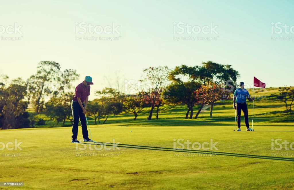 Good players practice until they get it right stock photo