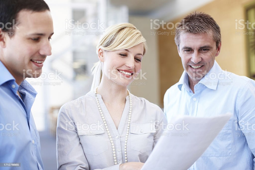 Good results thanks to successful teamwork royalty-free stock photo