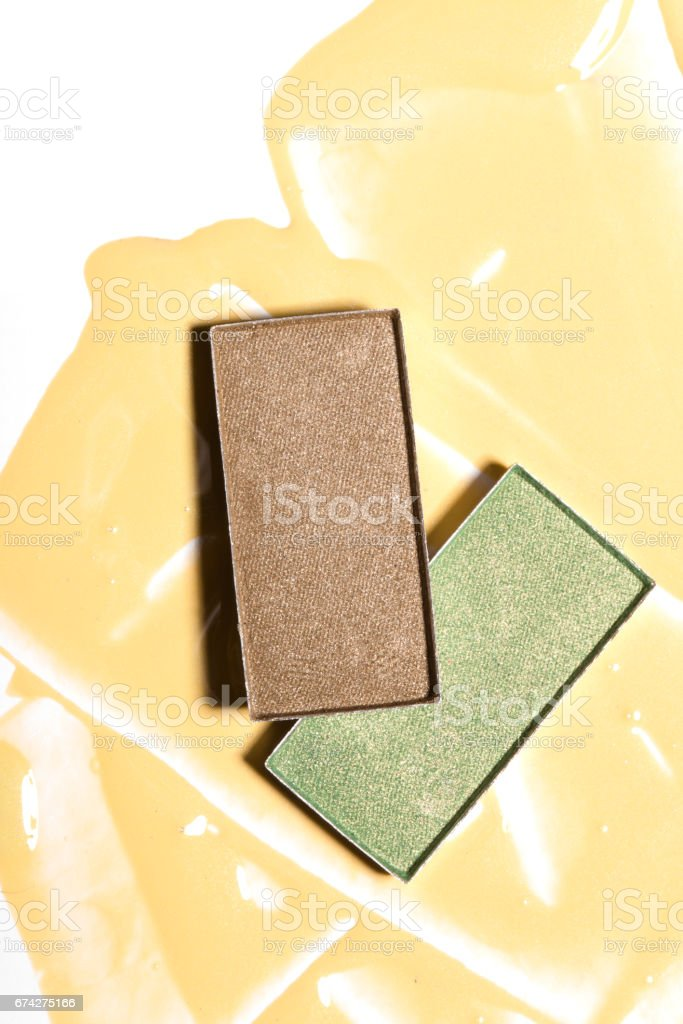 A good sample of eye shadow. stock photo