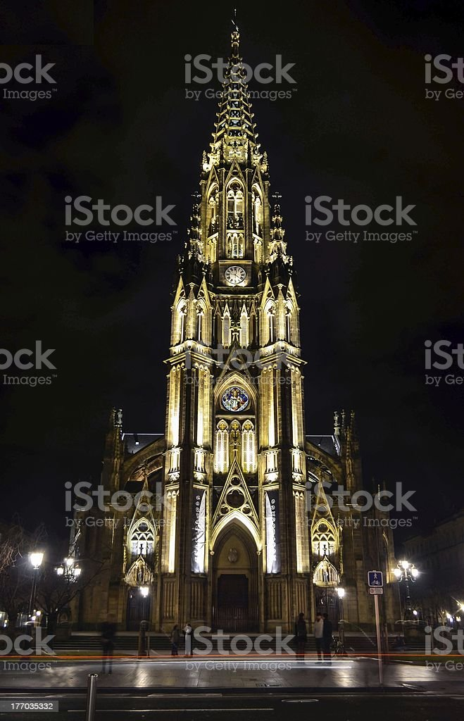 Buen Pastor Cathedral stock photo