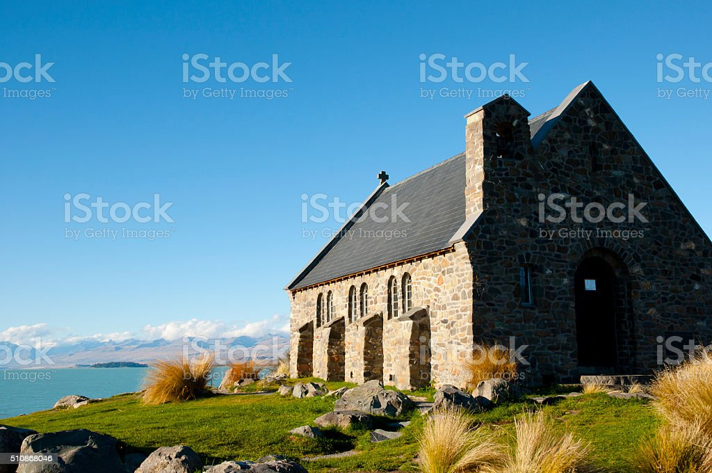 Good Shepherd Church - Lake Tekapo - New Zealand stock photo