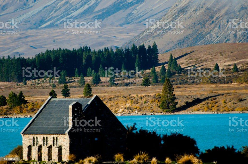 Good Shepherd Church - Lake Tekapo - New Zealand stock photo