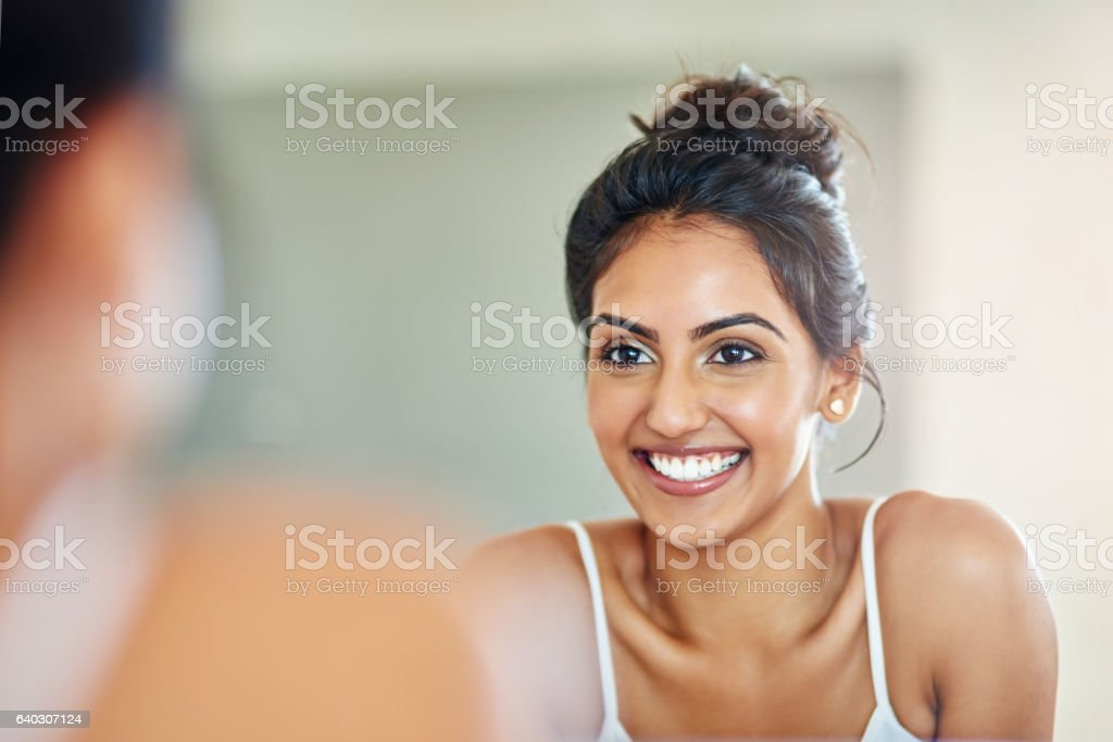 Good skincare definitely pays off stock photo