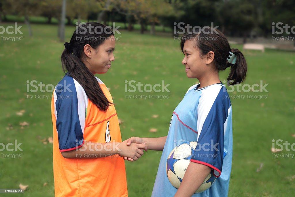 Good Sportsmanship 3 royalty-free stock photo
