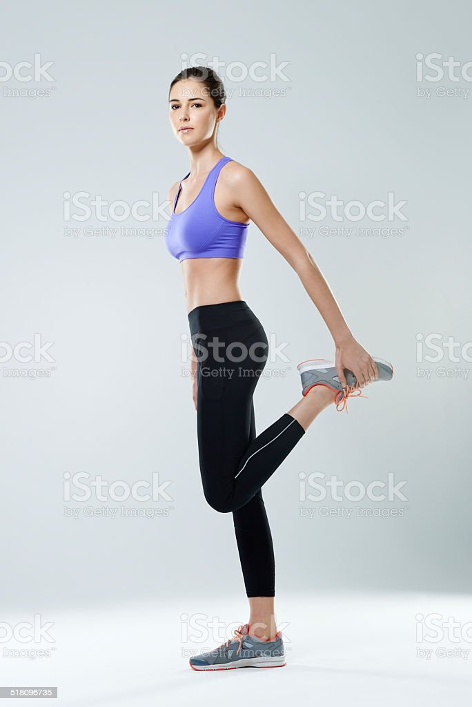 Good things come to those who sweat stock photo