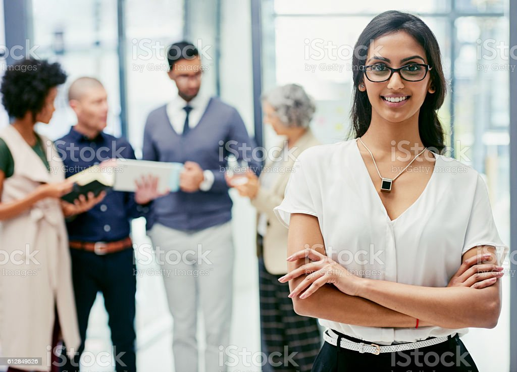 Good things happens to those who work hard stock photo
