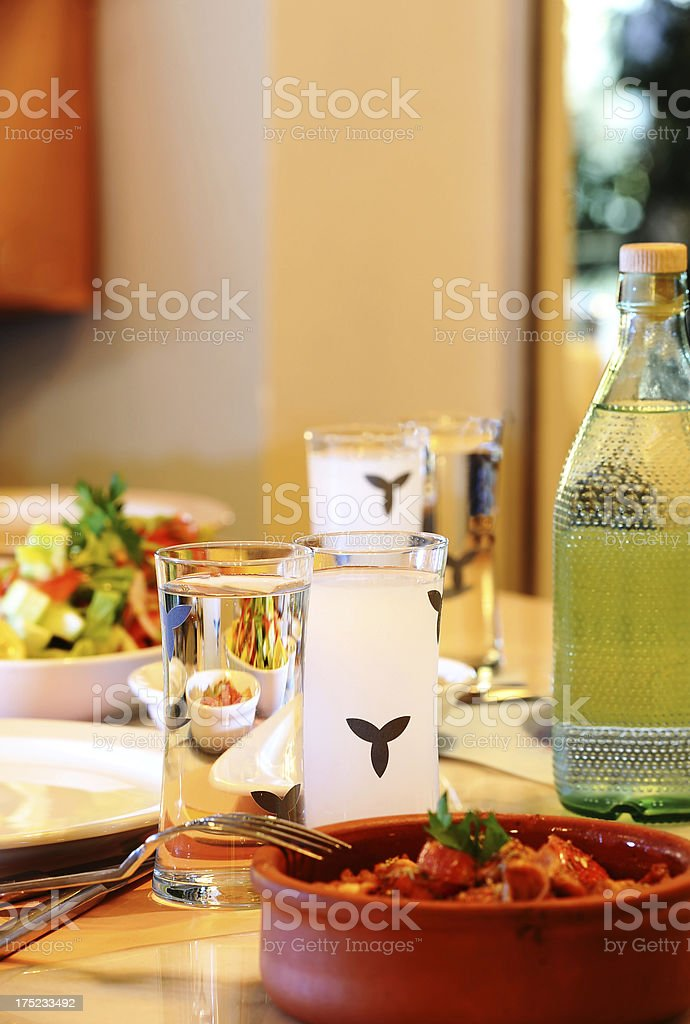Good time at restaurant royalty-free stock photo