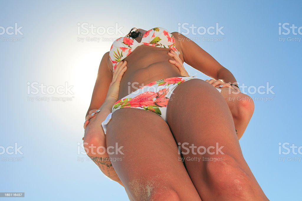 Good Time Beach - Holding Woman royalty-free stock photo