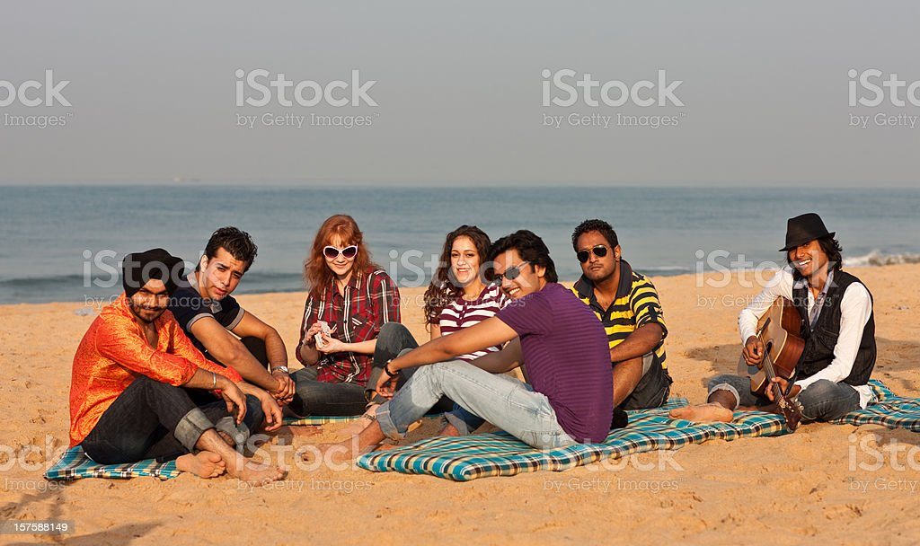 Good time on the beach in India royalty-free stock photo