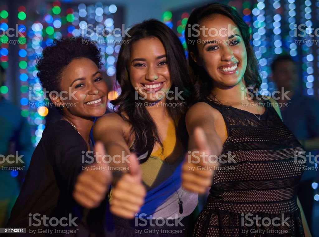 Good times in the club stock photo