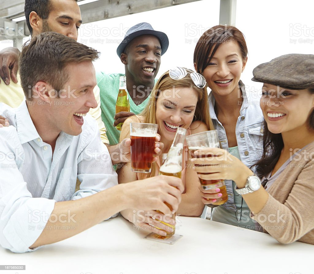 Good times with awesome friends! royalty-free stock photo