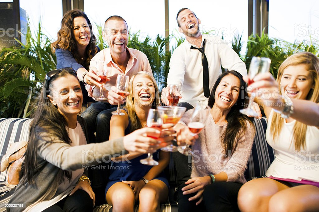 Good Times With Friends stock photo