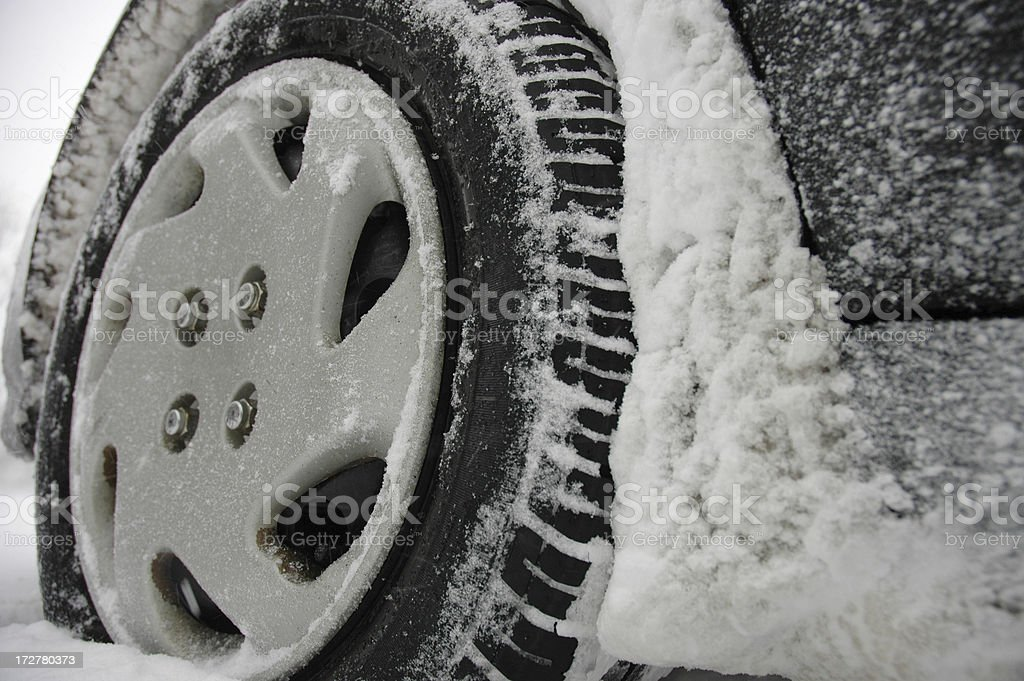 Good tires make all the difference in bad weather! stock photo