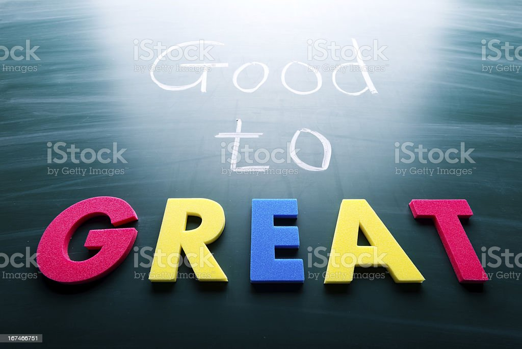 Good to great royalty-free stock photo