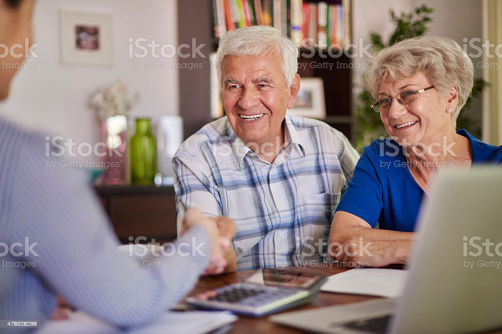 Good transaction is the success stock photo