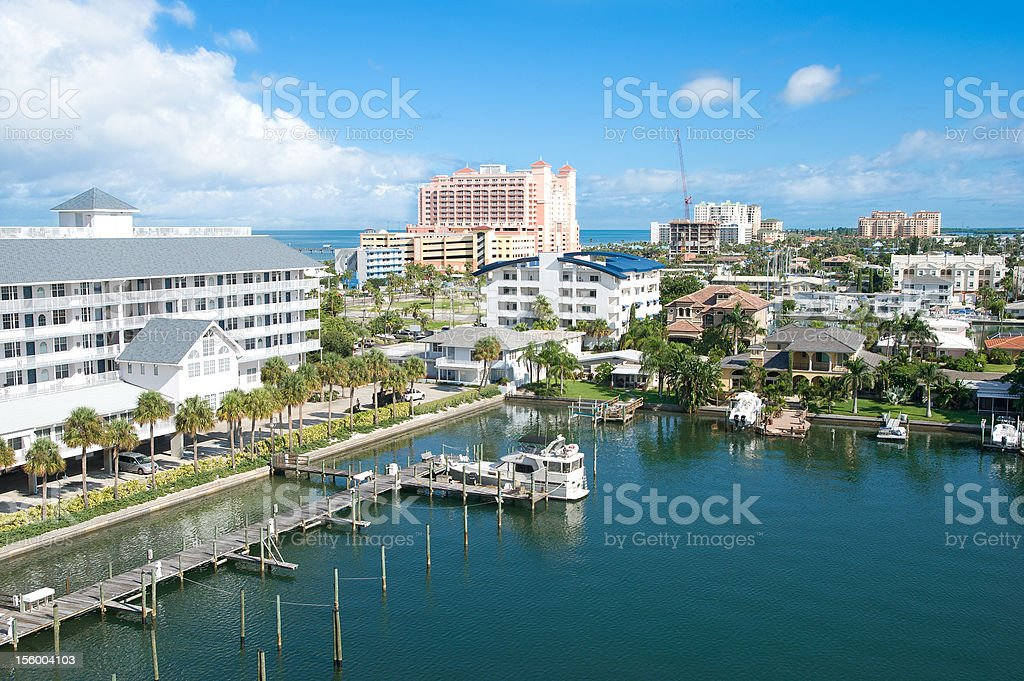 good view of a sunshine afternoon at Clearwater Florida US stock photo