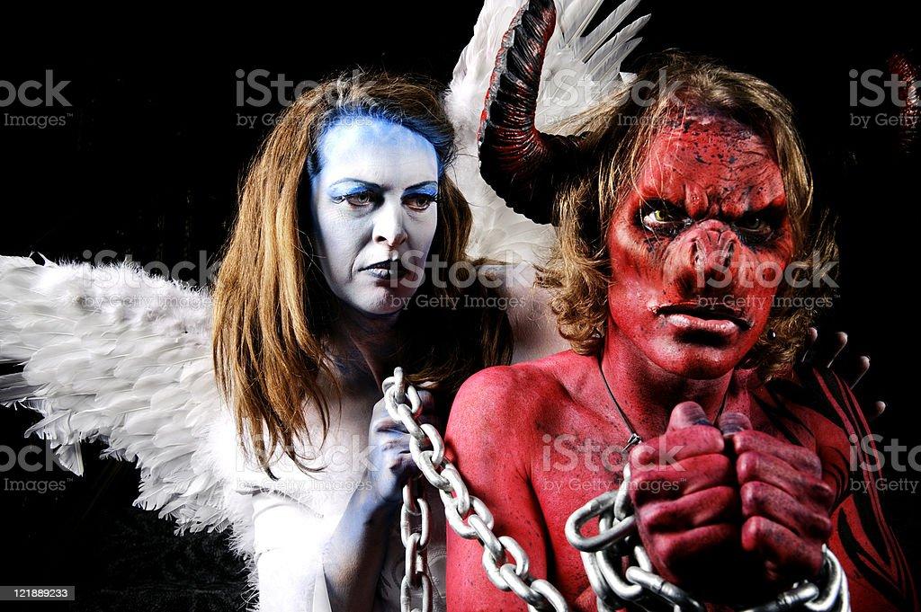 Good vs. Evil stock photo