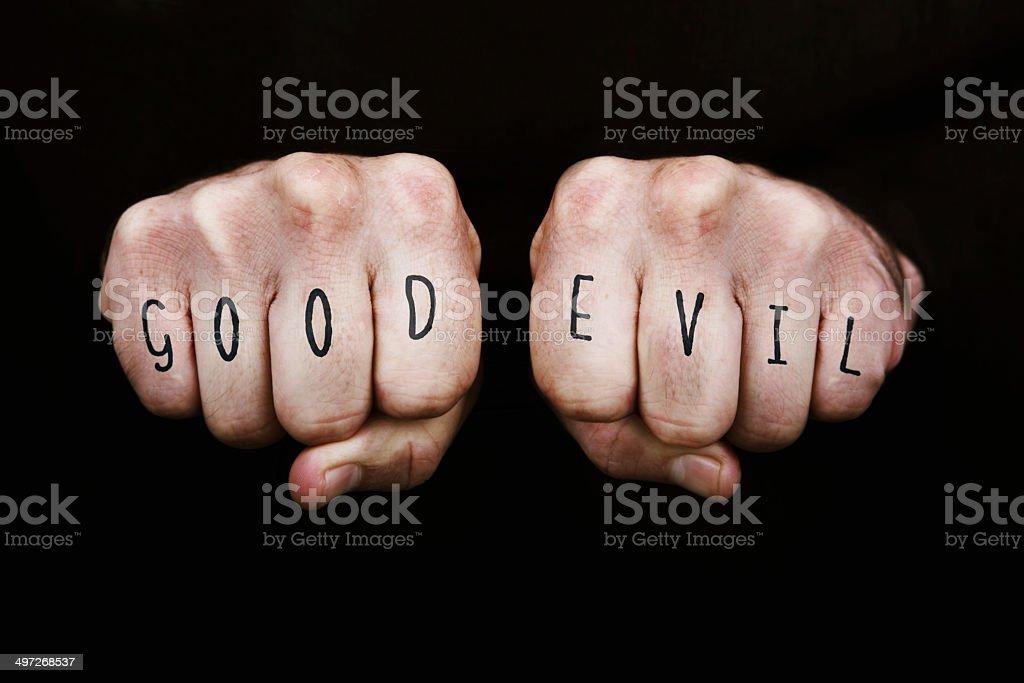 Good Vs Evil stock photo