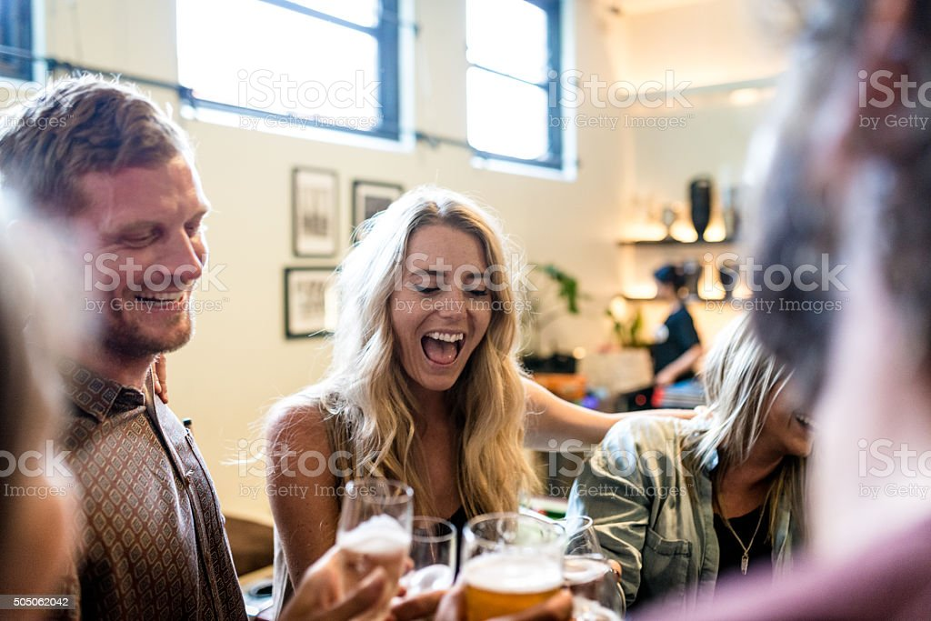 Good waste of time with friends stock photo