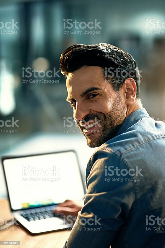 Good work comes from hard work stock photo