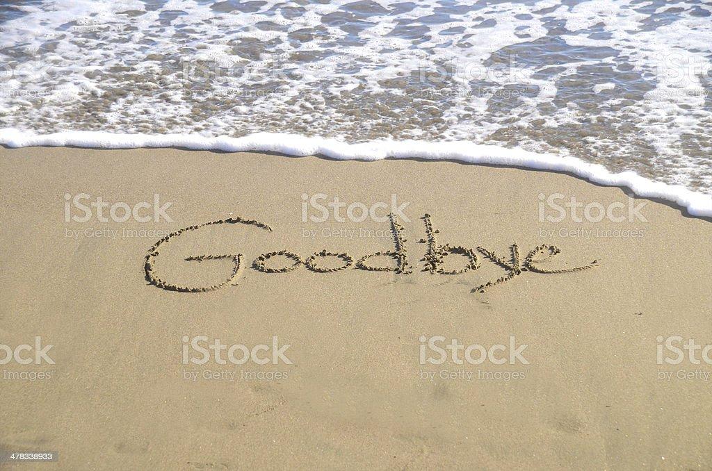 Goodbye stock photo