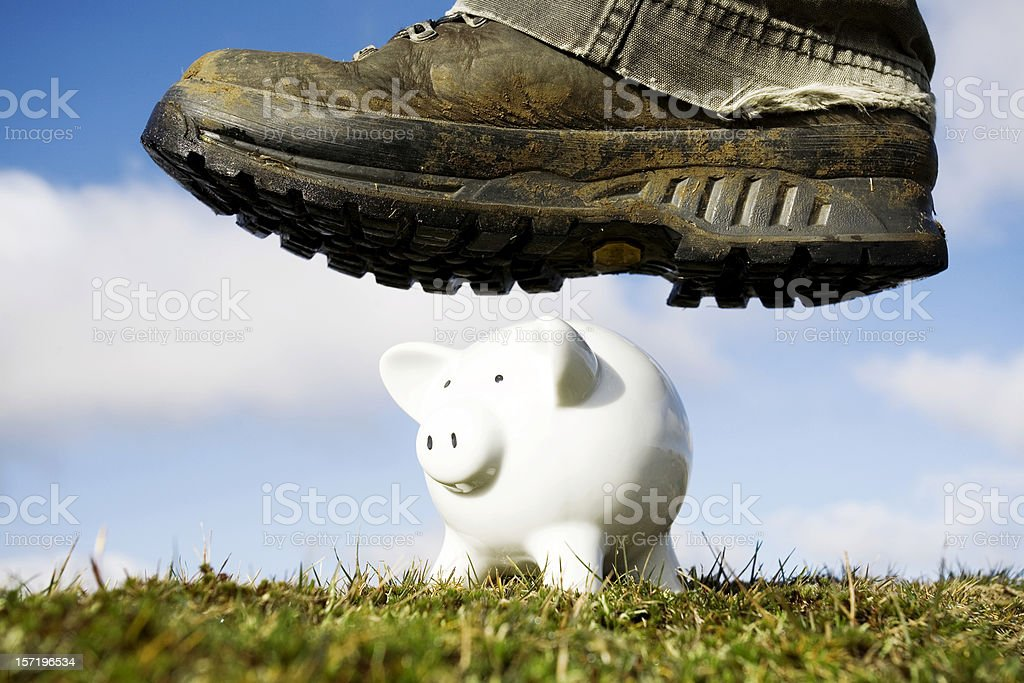 Goodbye savings stock photo