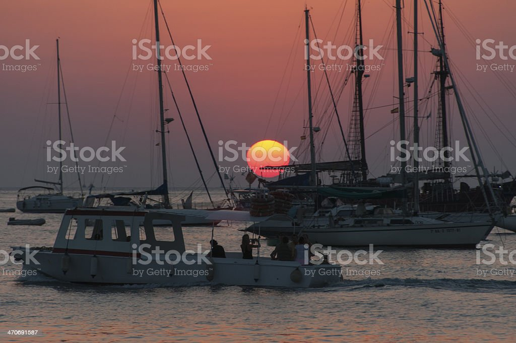 Goodbye sun stock photo