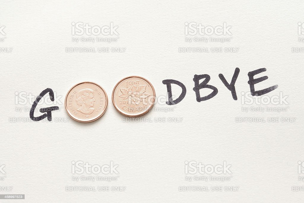 Goodbye to the Penny royalty-free stock photo