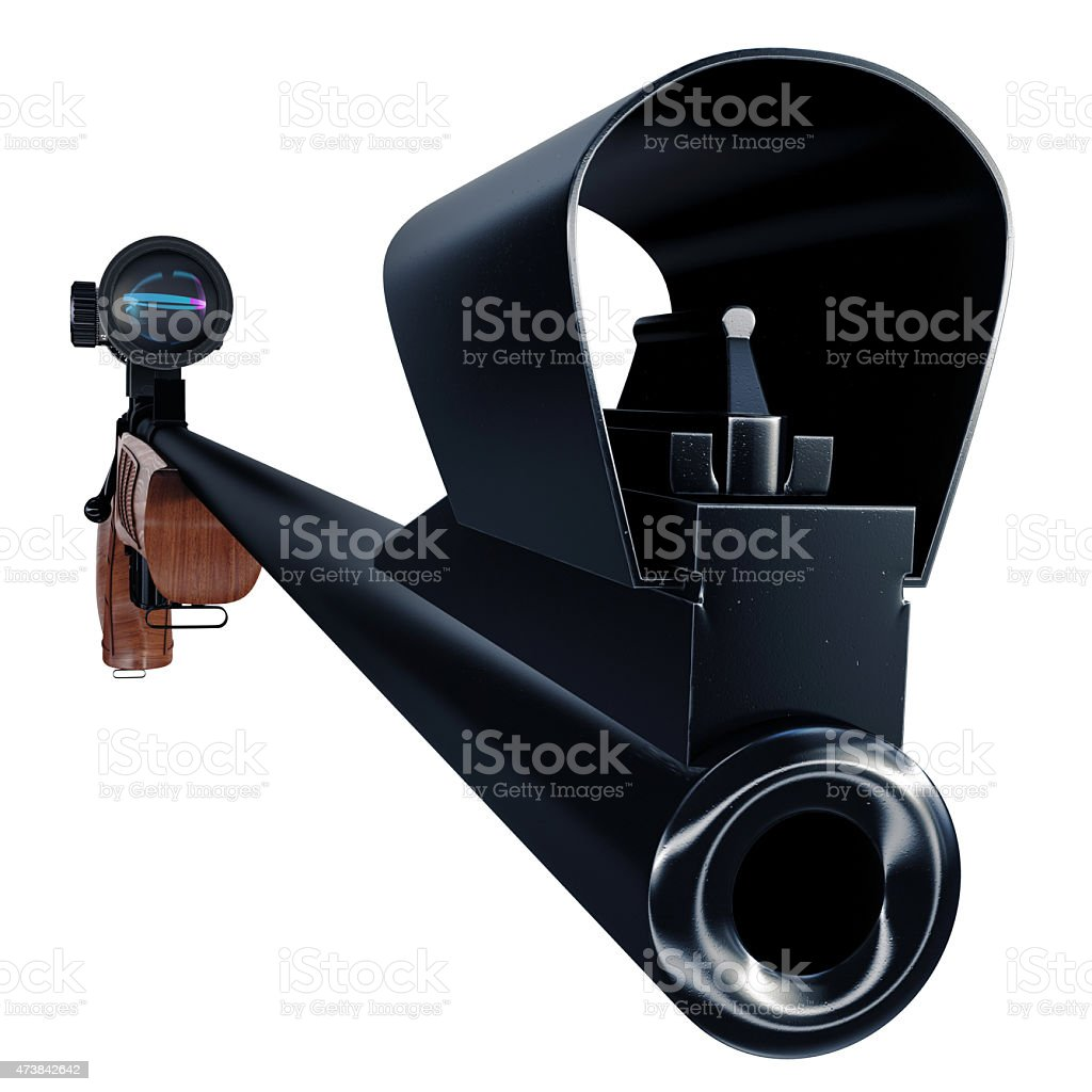Good-looking hunting weapon stock photo