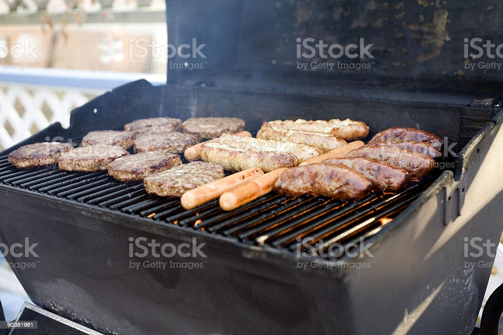 BBQ goodness in the summer! royalty-free stock photo
